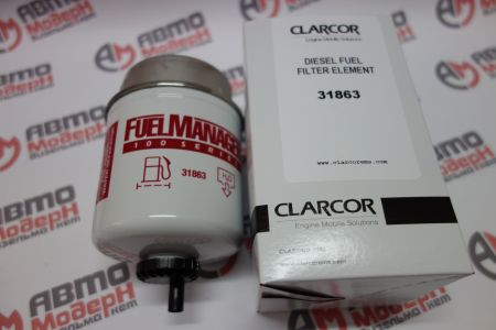 Fuel Manager FM100 standard flow Fuel / Water Separator element 3.6 in. 30 micron - 31863