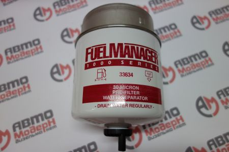 Fuel Manager FM1000 Pre-Filter/Water Sep. Assembly with 1/2