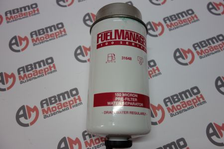 Fuel Manager FM100 standard flow Fuel / Water Separator element 6 in. 150 micron - 31648