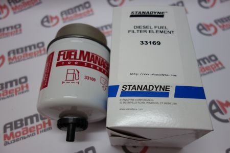 Fuel Manager FM100 standard flow Fuel / Water Separator element 3.6 in. 150 micron - 33169